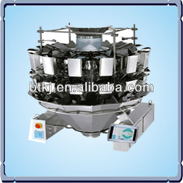 Digital 14 multihead combination weigher, automatic industrial weighing systems