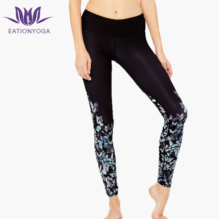women wholesale 2017 latest high quality sublimation hight waist yoga leggings pants