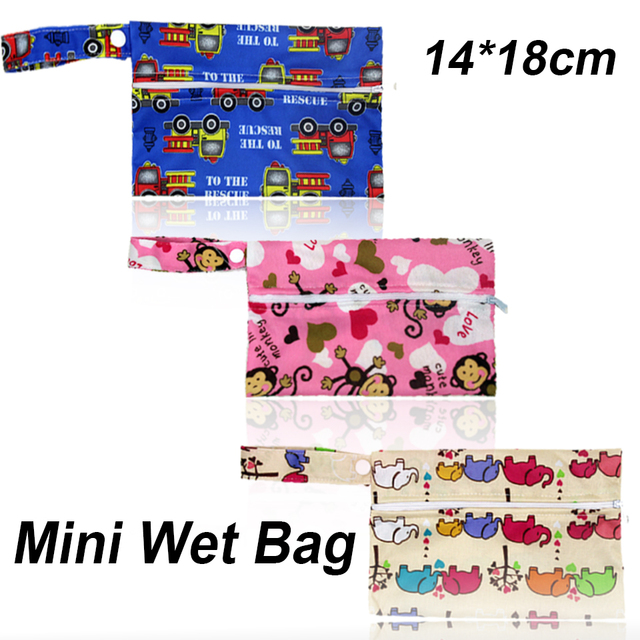 1PC Reusable Waterproof Mini Small Wet bag Pouch For Menstrual Pads Nursing Pads Stroller,Makeup,14*18CM,Wholesale Selling