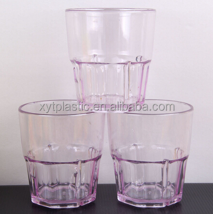 simple transparent clear beer mugs plastic PS mugs for bear