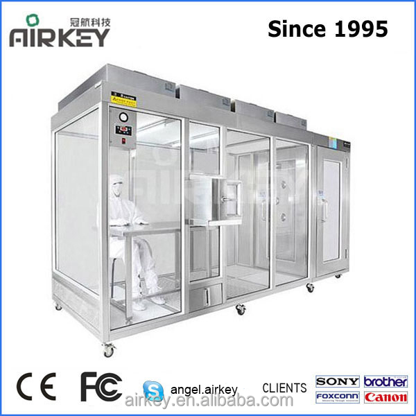 Dust Free Class 100 Clean Booth Led Clean Room With Air