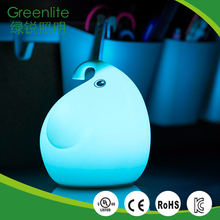 Long duration time rechargeable elephant table lamp night light cute bedside silicone cover light