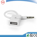 USB aux cable for car CD Player in white color