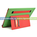 12 inch universal tablet case fashion color pu case with rotating stand