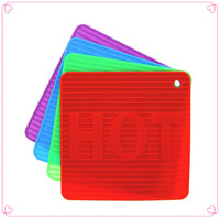 colorful and durable silicone hot pot mat/water cup pad/stand