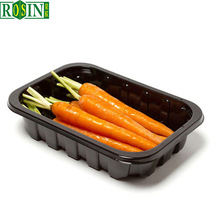 Fresh fruits vegetables disposable black extra large plastic trays