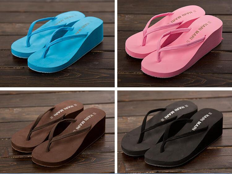 Uniseason Fashion High Heel Ladies Slippers And Sandals