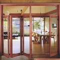 Aluminum folding door with top brand folding door fittings sound insulation glass