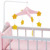 Olivia's Little World - Nursery Crib Bed with Storage (Grey Polka Dots) | Baby Doll Furniture