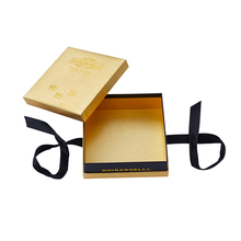 Luxury Fancy Cardboard Custom Golden Praline Chocolate Bar Gift Box Packaging