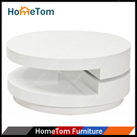 2015 High Gloss Finishing Shape-Round Wood Coffee Table