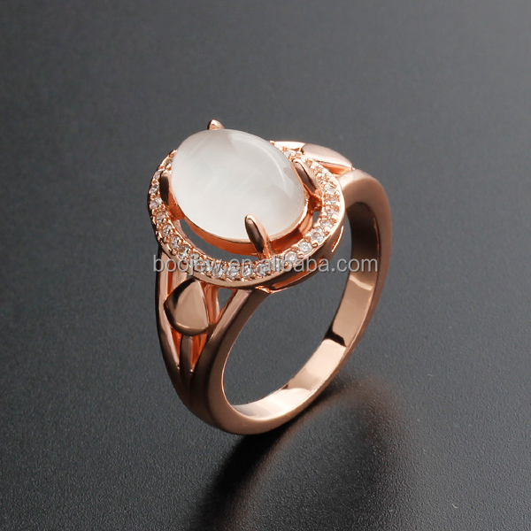 Fashion accessories phone jewelry rose gold wedding gemstone agate silver finger ring
