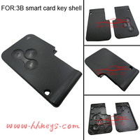 Smart key blank card cover for Renault Megane 3 button replacement without logo