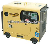 small silent mahindra diesel generator 5kva, air-cooled, home and garden use, OEM