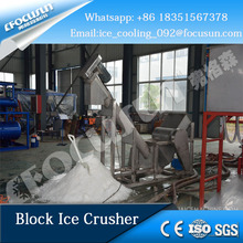2017 electric SUS304 material block ice crusher machine for fishery industrial use