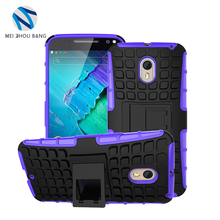 Tank style combo phone case chockproof Hybrid PC TPU Shell Holder Stand Cover Case For Moto x style