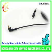 Multifunctional stereo 2.5/3.5mm usb to serial rs232 adapter driver cable