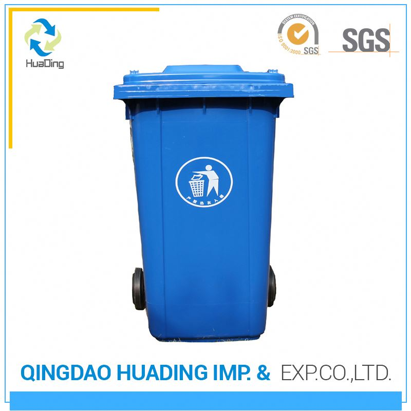 clear plastic outdoor garbage cans