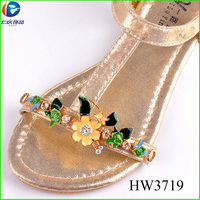 HW 3179 Brazil hot sell wholesale buckles rhinestone buckle shoe clips for slippers