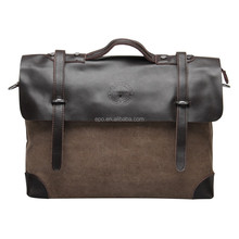 Men's bags multi-purpose business briefcase messenger bag men canvas bag with leather