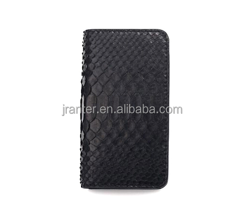 Universal Genuine Python Leather OEM for iPhone 6 Plus Wallet Phone Case