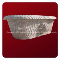 2013 Handcarved Natural Bathroom marble stone bathtub
