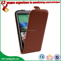 2015 New arrived book style PU leather mobile phone case for HTC One M8