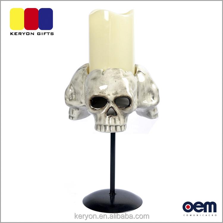 ceramic skull decoration led lights commercial halloween decorations - Commercial Halloween Decorations