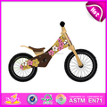 2016 wholesale high quality kids wooden walking bike W16C085