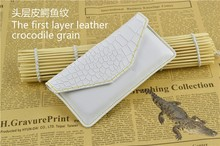 For iphone6 case , Factory Direct Sale Crocodile grain leather phone case