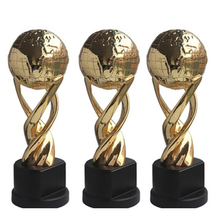 Wholesale zinc alloy 3D gold metal award world cup trophy