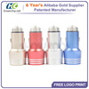 Super High Quality Mini 5V 4.8A Aluminum 2 Port Car Charger USB Dual Wholesale