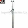 Adjustable scaffolding steel pole shores for construction