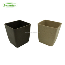 New styles Natural Bamboo Fiber Square Large Outdoor Pots