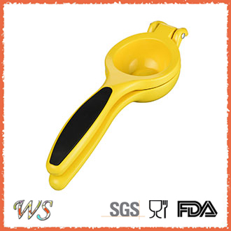 WS-SJ002 Wholesale Plastic Lemon Squeezer, yellow, green, orange
