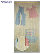 Korean bamboo beaded painted door curtain