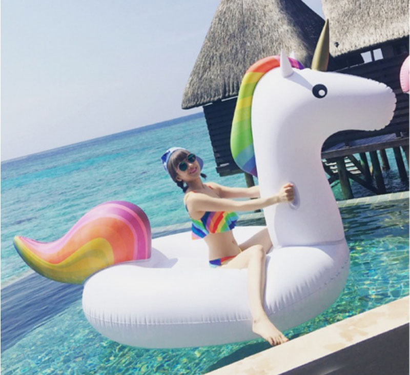 PVC Pool Inflatables Floats Raft Giant Inflatable Jumbo Unicorn Ring Loungers Swimming Games