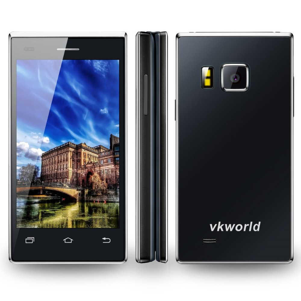 VKWORLD T2 4.02 inch MTK6580 Quad Core 1GB RAM 8GB ROM Camera 5MP+13MP Android 5.1 Dual Screen 3G Flip Open Mobile Phone
