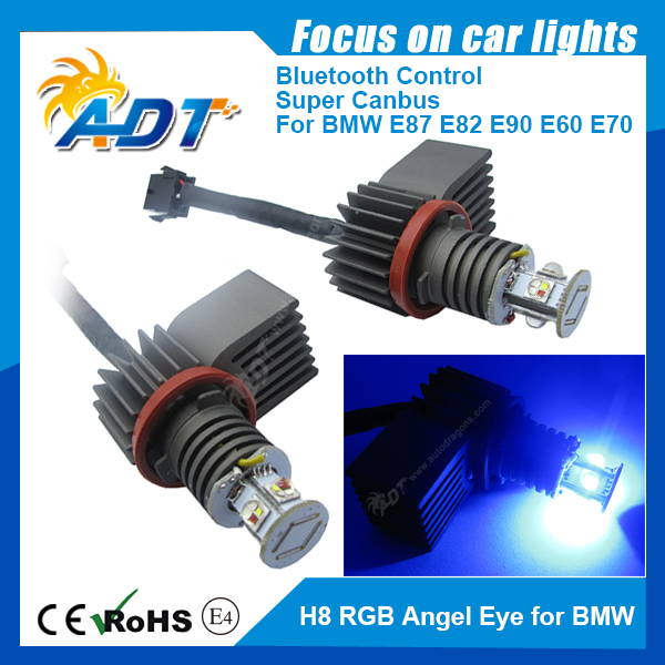 H8 Cr-ee LED RGB Color V9 Angel Eye Halo Ring Bulb FOR BMW E60 E61 E92 E93