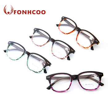 FONHCOO Cheap Multicolor Big Frame Plastic Reading Glasses