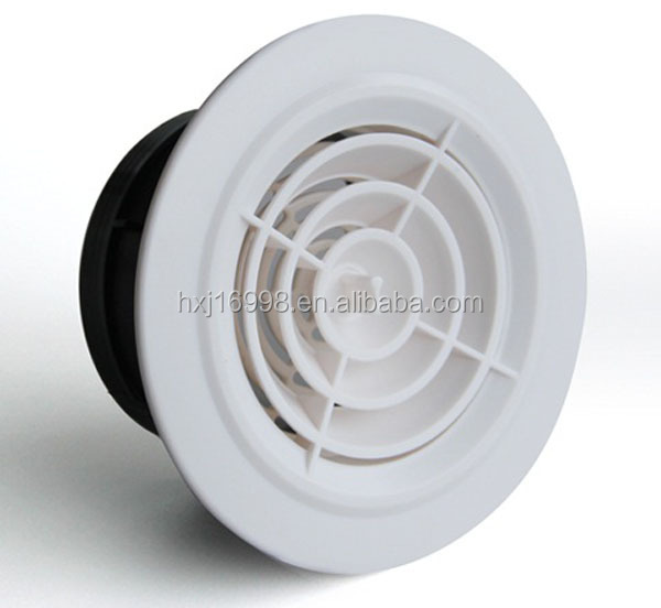 HVAC plastic round ceiling air vents/air diffuser for air conditioning