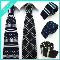 NEWEST Design Stripe Mens 100% Silk Knit Necktie