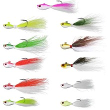Bucktail jig Lead Jigging Fishing Lure 1/4oz 3/8oz 1/2oz 1oz 2oz 3oz 6oz Bucktail Fishing Hair Jig