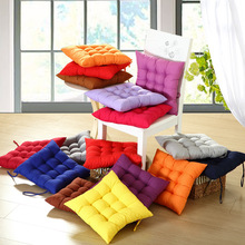 2018 new hot selling pure color solid color cotton polyester cushion chair cushion home office cushion
