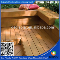 High quality WPC Plank/Board/Decking/Flooring with CE SGS FSC ISO waterproof recycled plank for bench, dustbin fence