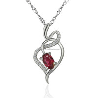 best sale 925 sterling silver love shape pendant pendant Jewelry wholesale