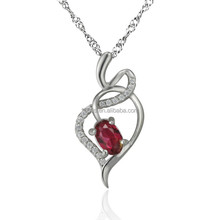 best sale 925 sterling silver love shape pendant Jewelry wholesale