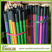 sweeping colorful handle wooden broom coated pvc