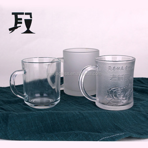 3 Type Glass Cup Water/Coffee Mugs With Clear Custom Drinkware
