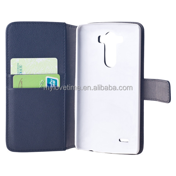 Wallet card-slot PU leather case for LG G4